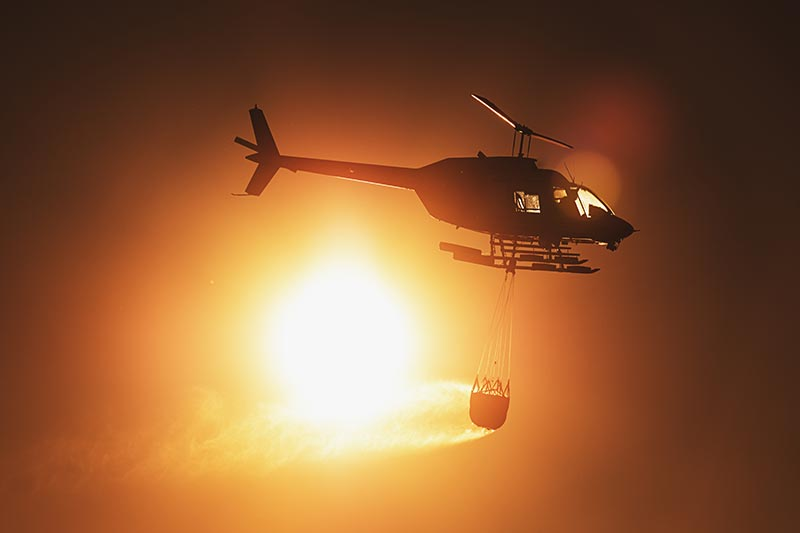 Firefighting Helicopter in California